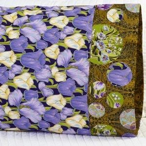 Fabric: Grandeur 2 by Robert Kaufman Fabrics. Pillowcase Pattern 25. Free download here: http://www.allpeoplequilt.com/millionpillowcases/freepatterns/index.html