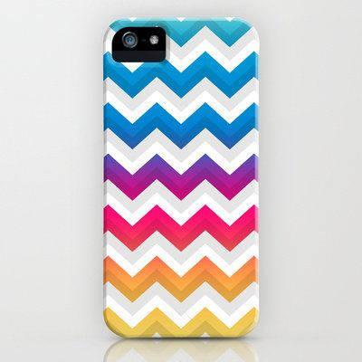 Chevrons III iPhone & iPod Case by Rain Carnival