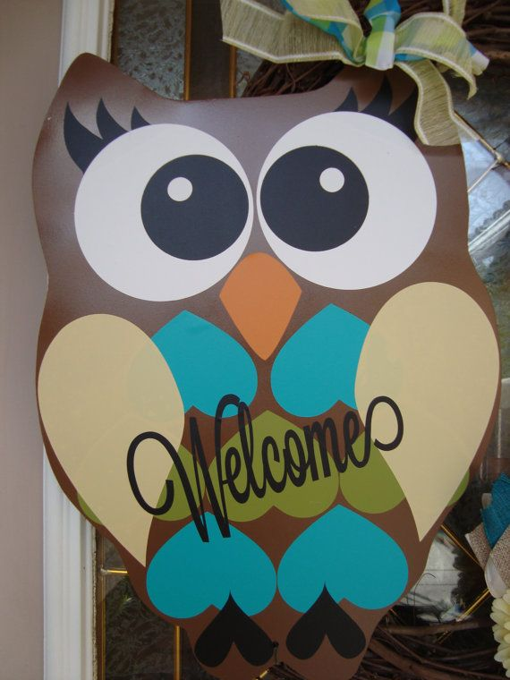 Owl Wreath/Spring Wreath/Summer Wreath by thepaisleypetalvegas, $95.00
