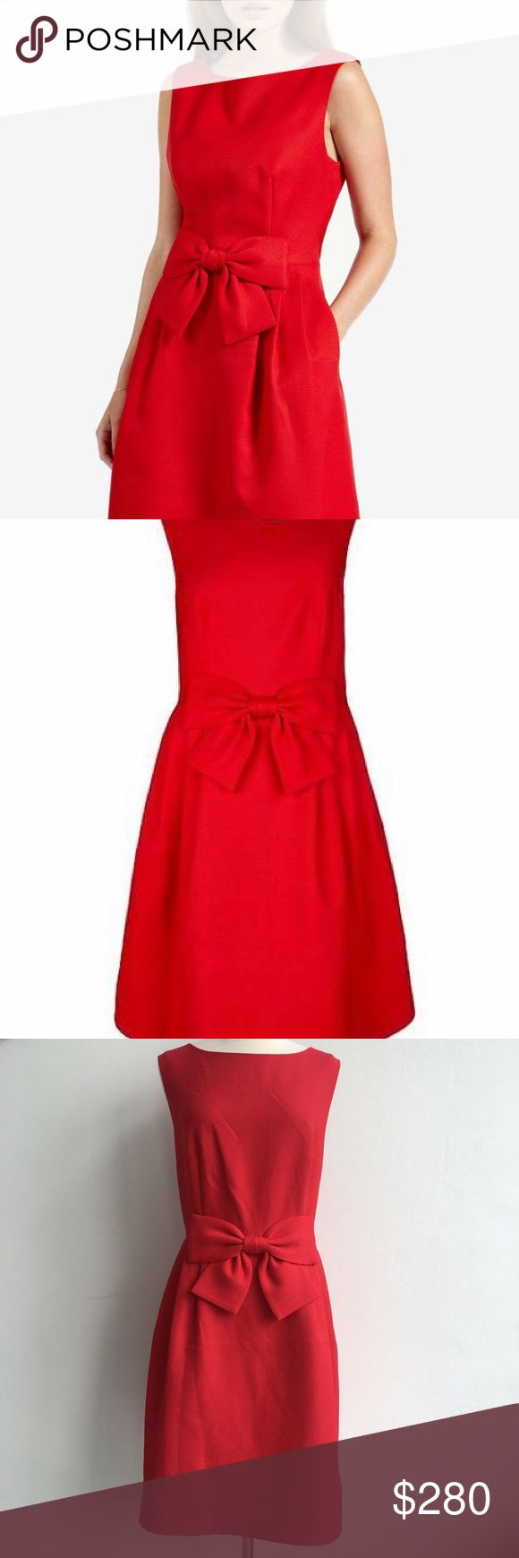 Ted baker red bow dress beautiful bright red bow dress by ted baker