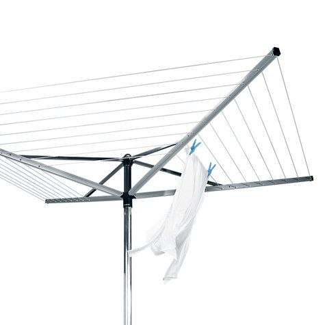 Buy Brabantia Topspinner Rotary Clothes Airer Washing Line with Plastic Ground Tube, 50m Online at johnlewis.com