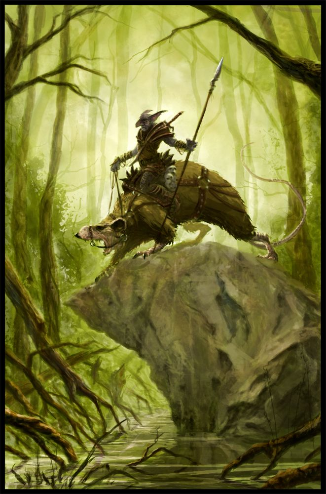 Swamp-Grat Rider by ~m-hugo on deviantART