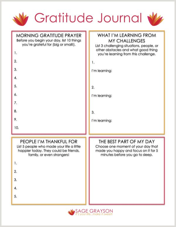 Free Printable Gratitude Journal - Sage Grayson Coaching
