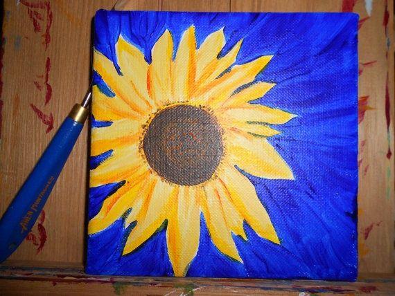 sunflower paintings acrylic | visit etsy com