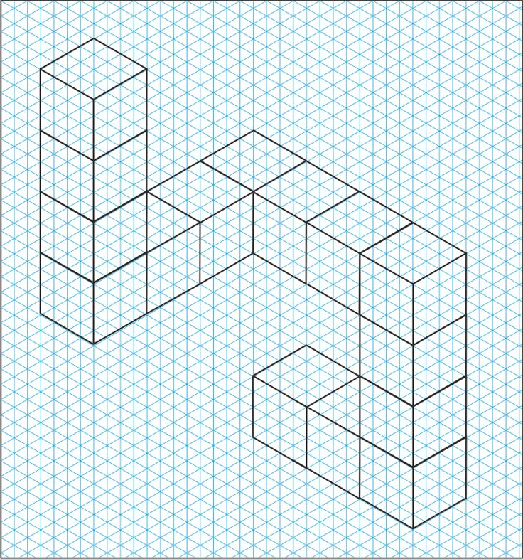 how to draw a cube on graph paper