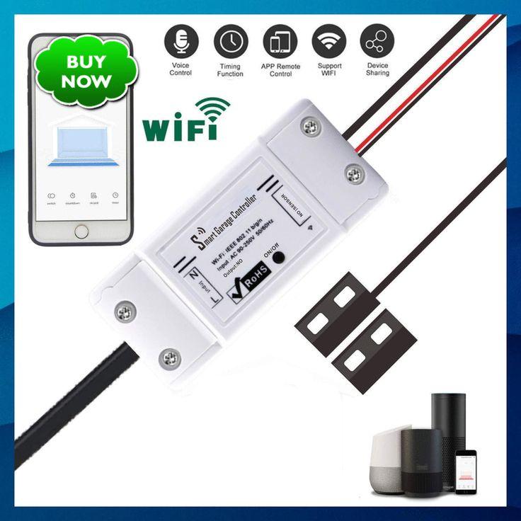 APP Remote and Voice Control Smart Garage Door Opener