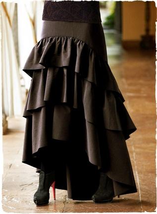 tiered ruffle maxi skirt (no tutorial - Inspiration ...