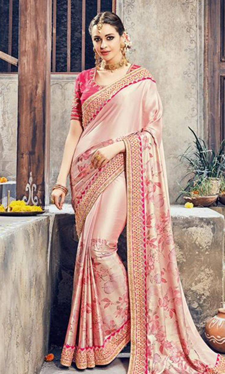 Shop Pink Heavy Embroidered Border Saree (SKU Code : SAEBRVS806) Online at  IshiMaya Fashion