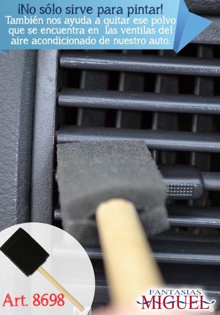 ¡Nuestra Esponja Con Mango no sólo sirve para pintar! También nos ayuda a quitar ese polvo que se encuentra en  las ventilas del aire acondicionado de nuestro auto.