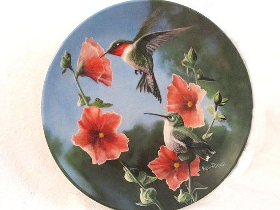 The Hummingbird Plate 7 of The Birds of by NonisVintageDelights  sc 1 st  Pinterest & 16 best hummingbird plates I love images on Pinterest | Dishes ...