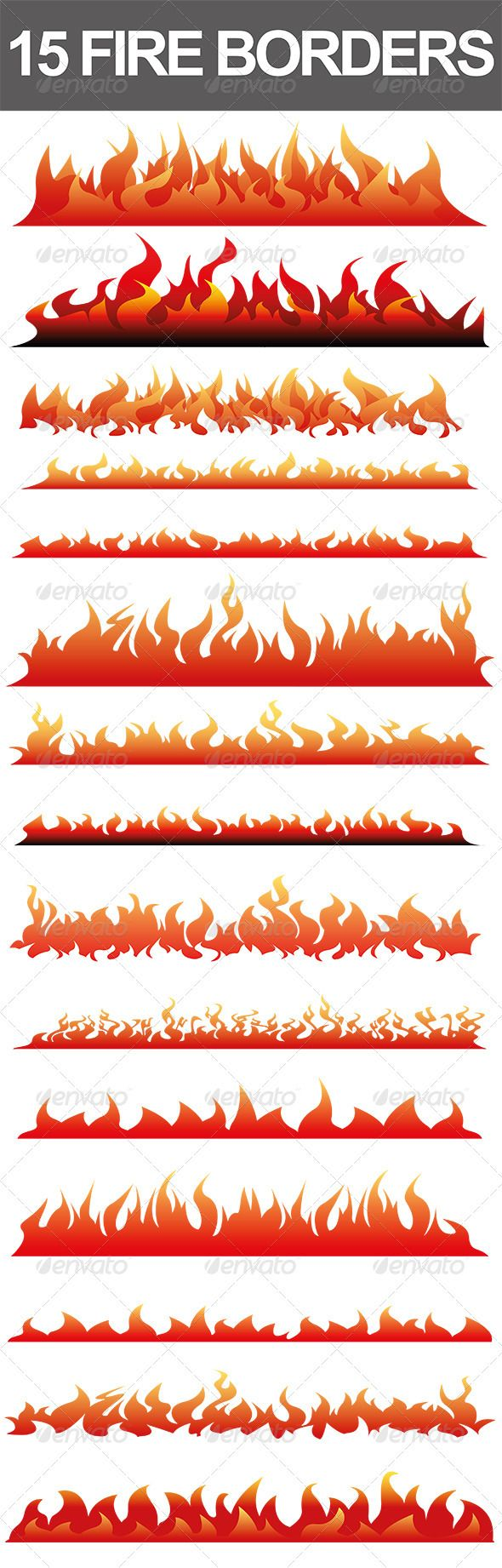 Flames white background border flame border w pictures to pin on - 15 Fire Borders