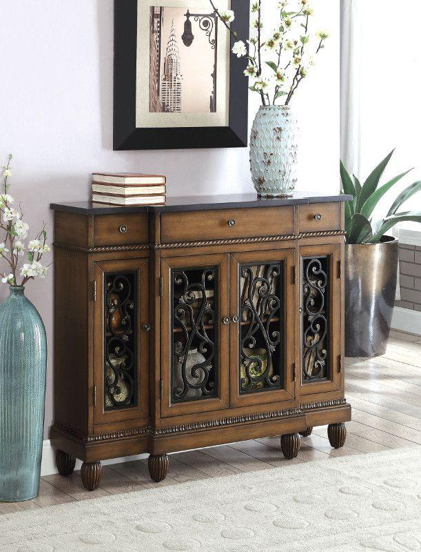 Cm Ac509ch Tournai Dark Oak Finish Wood Cabinet Hall Console Table