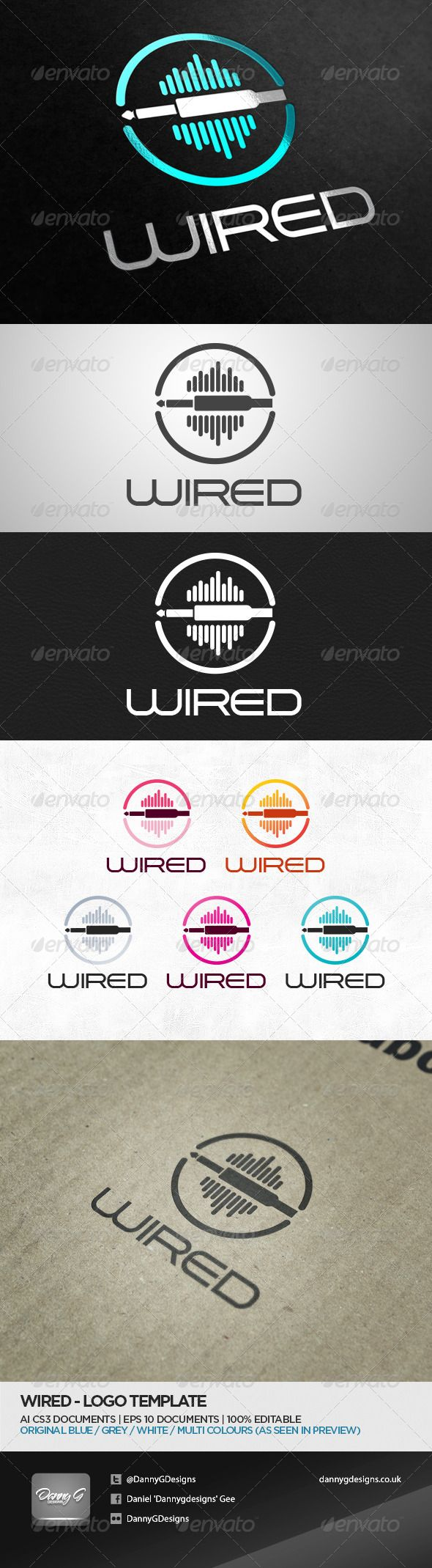 Wired  - Logo Design Template Vector #logotype Download it here: http://graphicriver.net/item/wired-logo-template/5243420?s_rank=1464?ref=nexion