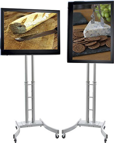 """Portable TV Stand with Wheels, Fits Television 32"""" to 65"""", Collapsible w/ Mobile Case - http://besttvstands.com/?product=portable-tv-stand-with-wheels-fits-television-32-to-65-collapsible-w-mobile-case"""