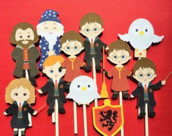 Cupcake a Harry Potter, 12 Harry Potter inspiré Cupcake a, harry approvisionnement en partie potter, toppers pour harry potter fête