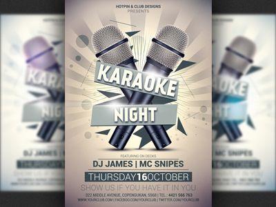 Karaoke Night Party Flyer Template Flyer template, Party flyer - karaoke night flyer template