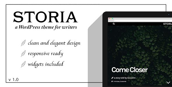 nice Storia - A WordPress Theme for Writers, Bloggers, Storytellers (Weblog / Magazine)