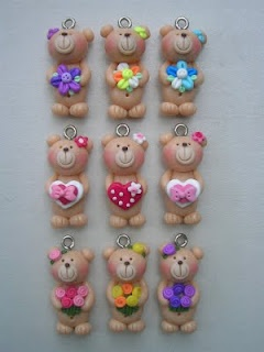 Cute bears and other necklaces by Little Clay Corner