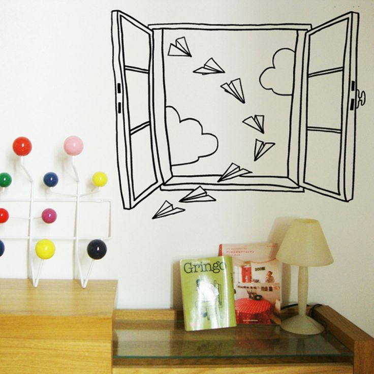 Наклейка «Бумажные самолетики»  #littlemoon #littlemoonstore #chispum #наклейка #девочки #мальчики  #дети #малыши #дом #дизайн #декор #интерьер #детская #стены
