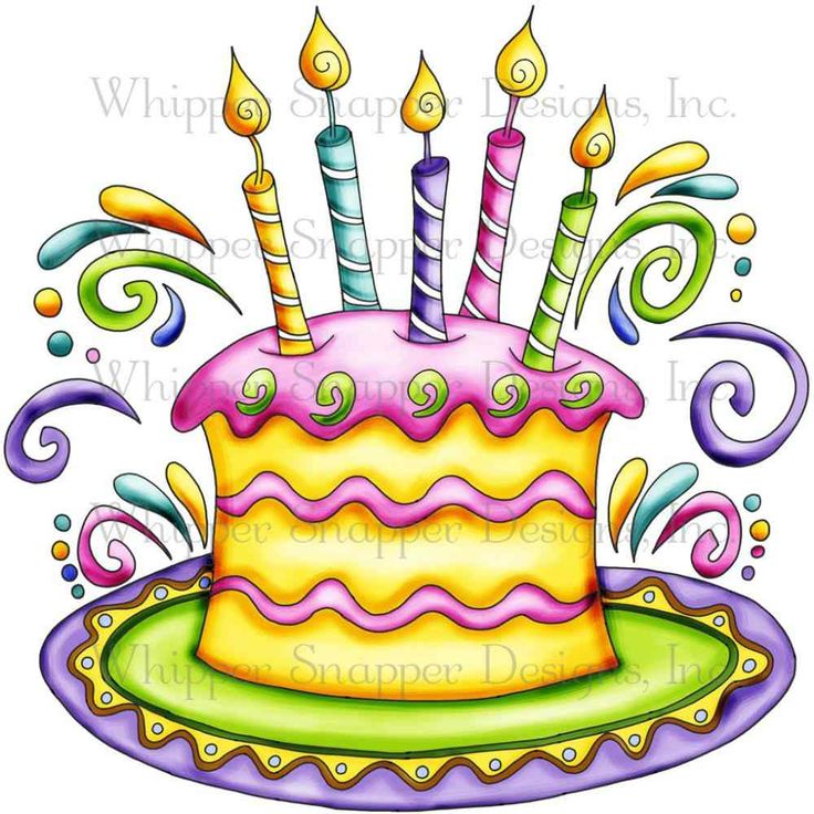 Birthday Cake on www.addictedtorubberstamps.com