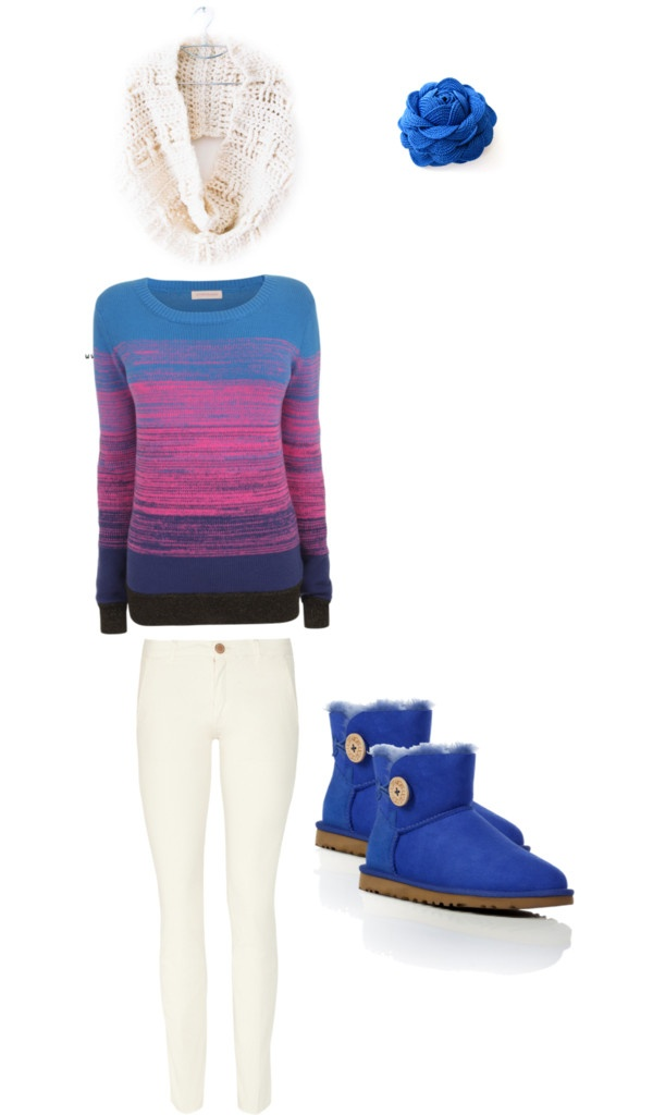 """Blue & Cream"" by istaser on Polyvore"