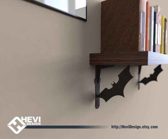 2x Batman BATARANG shelf bracket 2 brackets for complete