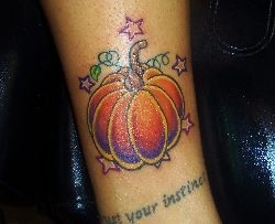holloween pumpkin tattoo by kevin gordon by kevin gordon - Art Gallery - Worldwide Tattoo Supply