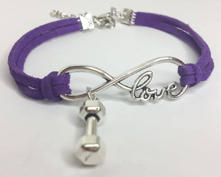 Infinite Love Fitness Bracelet, Friendship Bracelet, Bestfriend Gifts, Gift Ideas, Fitness Gift, Fitness Charms, Friendship, Fitness Jewelry by MissFitBoutiqueCA on Etsy https://www.etsy.com/ca/listing/559140572/infinite-love-fitness-bracelet