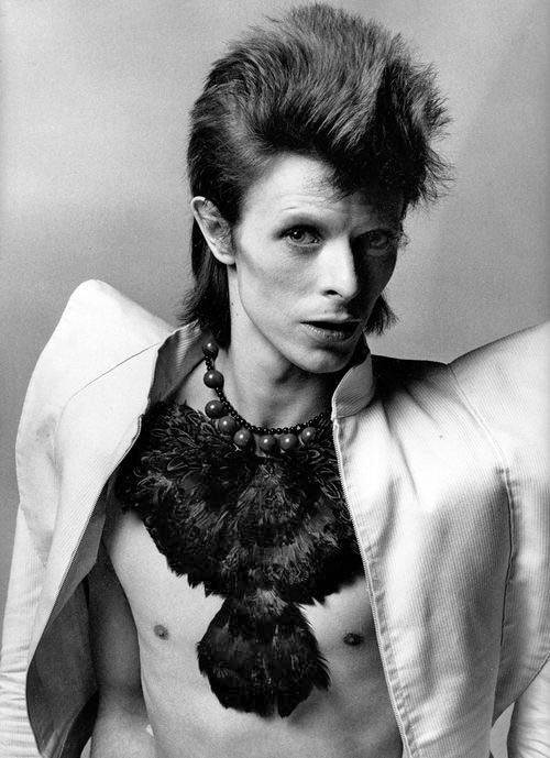 David Bowie's fabulous feather necklace
