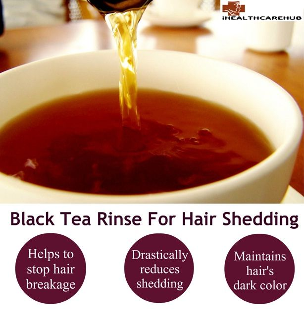 here are several pros to using black tea rather than standard hair dye.Black tea contains more caffeine than a cup of coffee. The caffeine blocks DHT, the hormone that is responsible for hair loss.Black tea is an excellent way to stop our hair from shedding as much. It adds shine to dull, lackluster hair.
