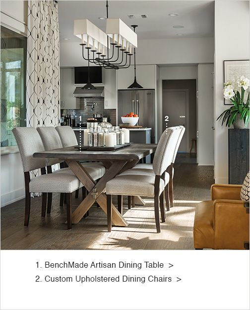Open To The Kitchen Entryway And Living Room Dining Sets Scene With Its Urban Vibe Subtle Overtones Of Texas