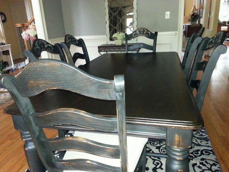 Oak Dining Room Set Makeover