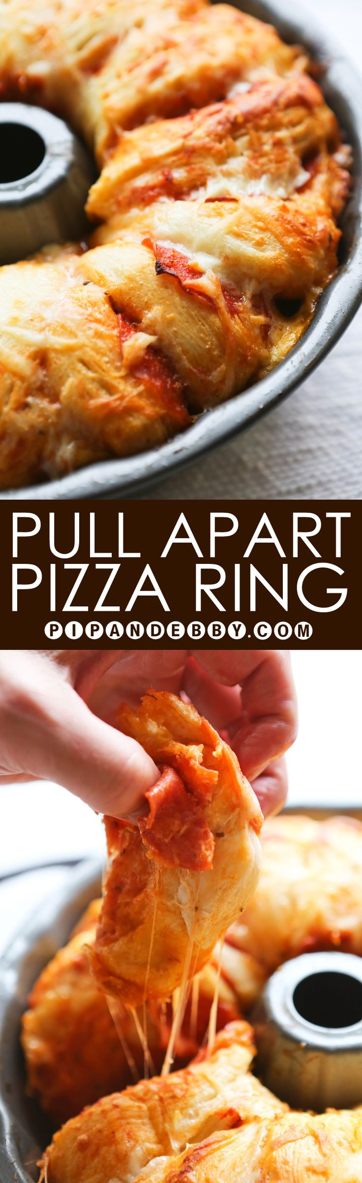 Pull Apart Pizza Ring | A fun twist on pizza! Kids love it and it couldn't be easier to prepare.
