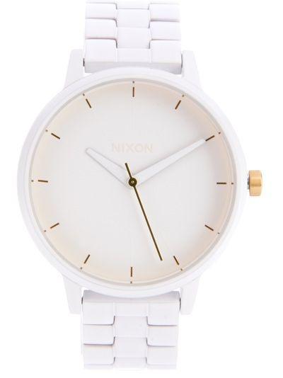 NIXON Relógio Branco.