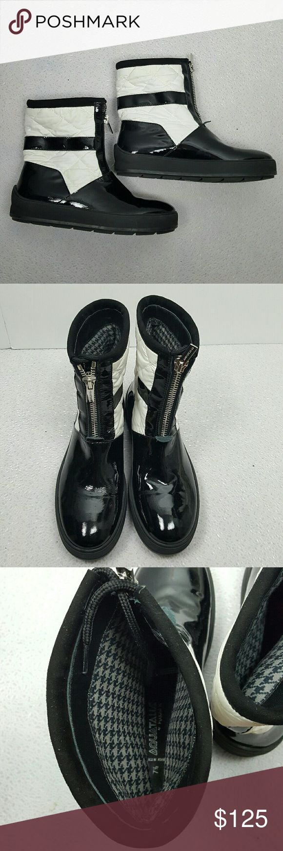 AQUATALIA black and white quilted boots New never been worn Aquatalia  Shoes Ankle Boots & Booties