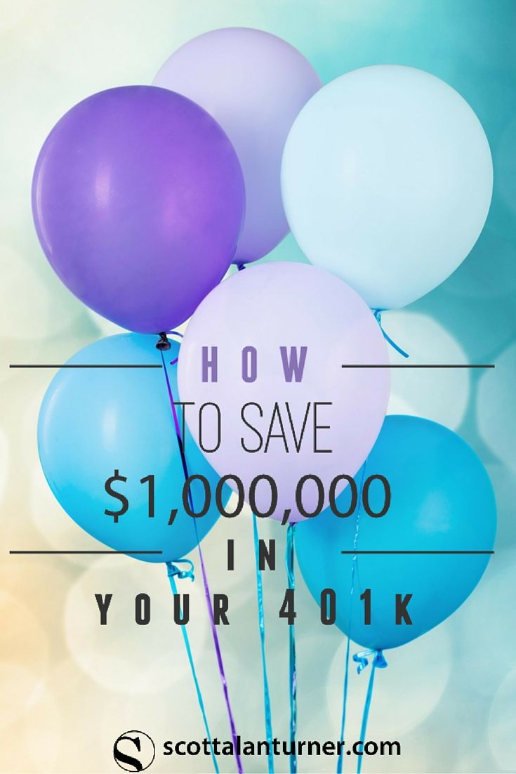 This is for me! How to save a million in your 401K. 401K savings, save for retirement with a full 401K