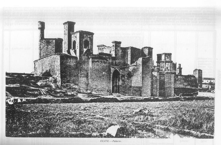 Palacio de Olite (Navarra, España) hacia 1845