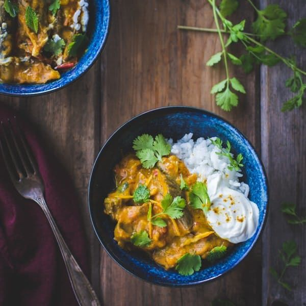A Freezer-Friendly Meal for Fall: Curried Roasted Eggplant with Coconut Milk — Delicious Links