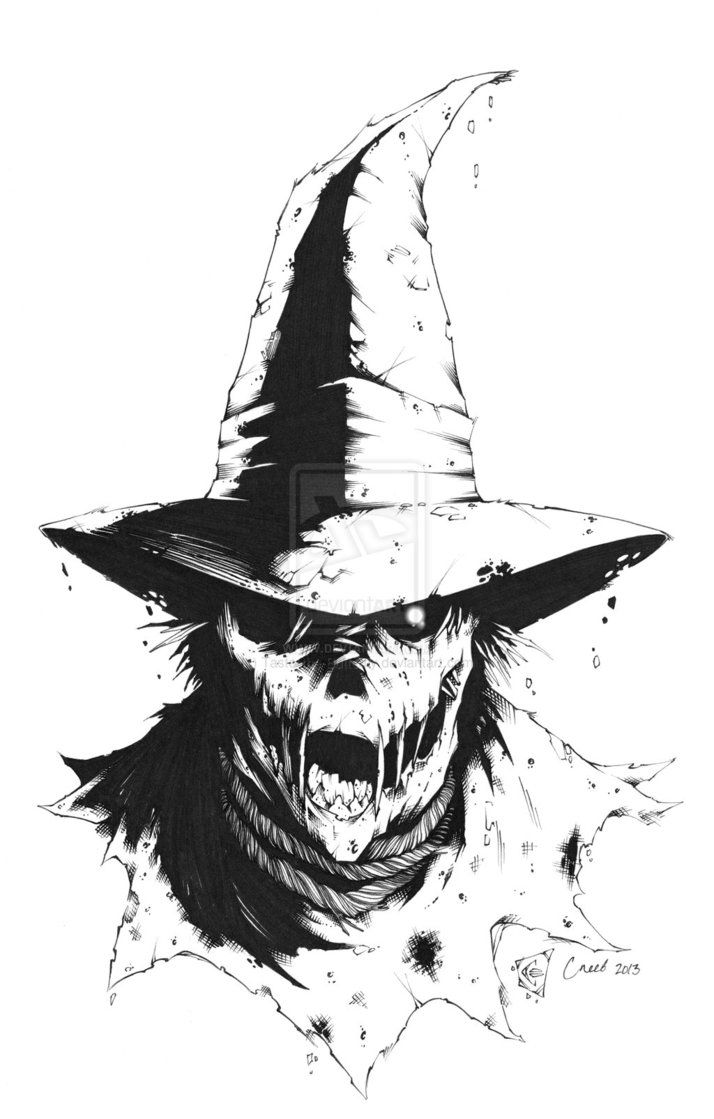 scarecrow scary drawing - Google Search                                                                                                                                                                                 More