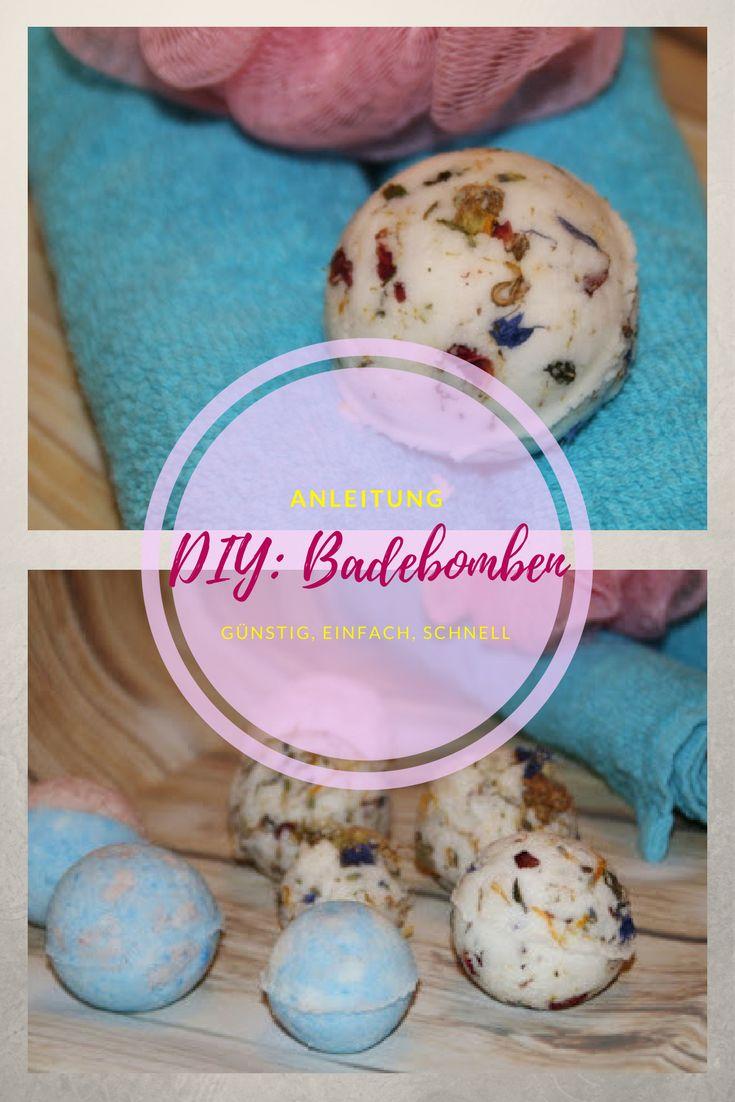 Badekugeln das ideale Geschenk zu Valentinstag oder Muttertag, ganz schnell und günstig selbst gemacht