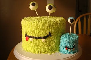 Monster Cakes! I know this is a little early since Xander isn't even here yet, but how cute for his first birthday!