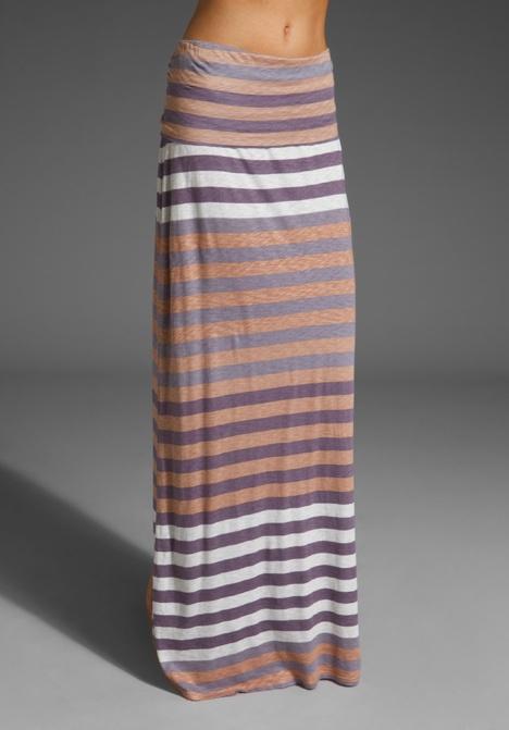 SPLENDID Gradient Stripe Maxi Skirt