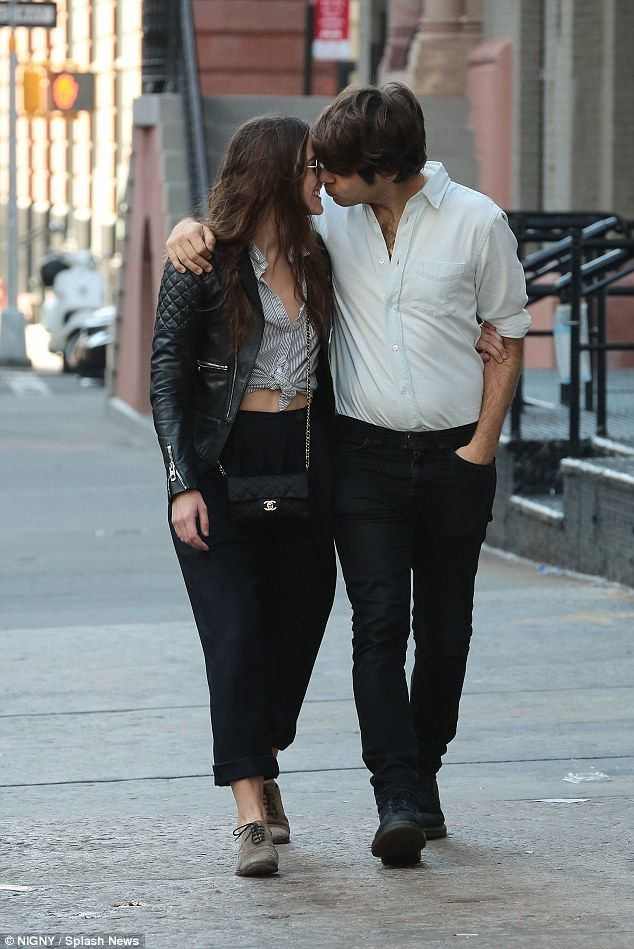 PDA: Actress Keira Knightley and husband James Righton looked affectionage as they walked ...