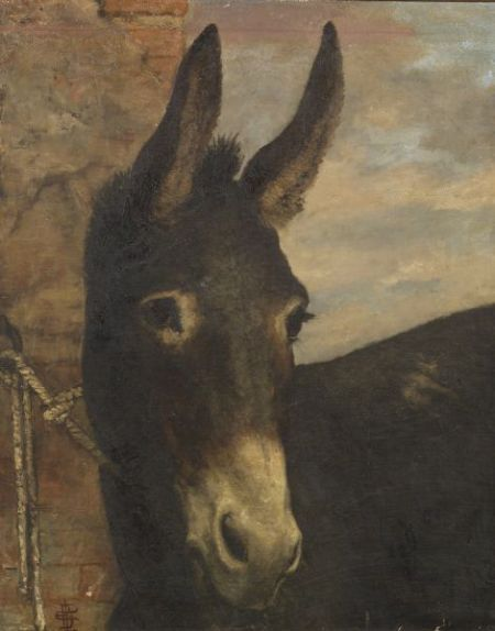 Anglo/American School, 19th Century Portrait of a Donkey
