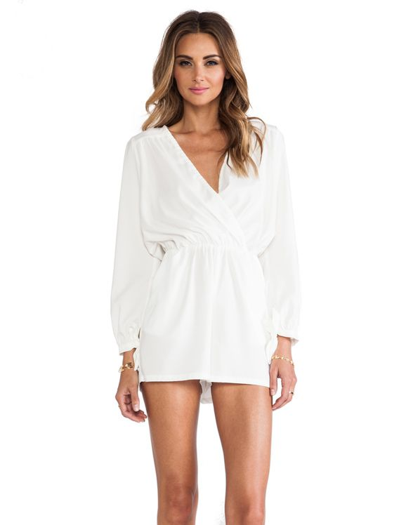6 SHORE ROAD Natures Romper in Mineral