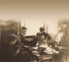 Giuseppe Zamberlan, founder of the company, at work in his shop in early '30s...
