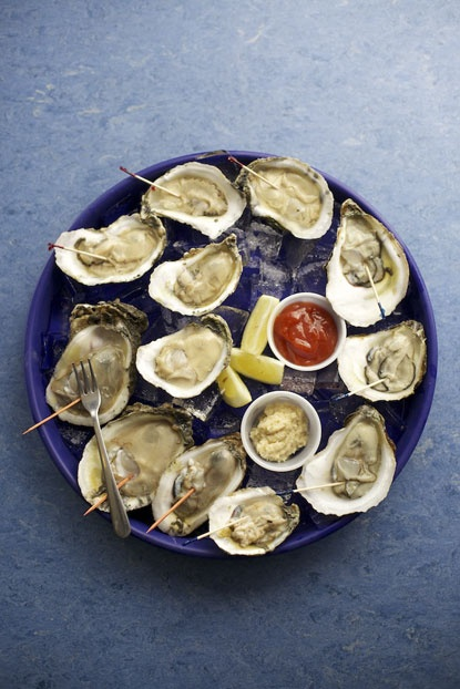 Oysters from Captain Benny's Seafood in Houston, TX.  Photo by Jody Horton