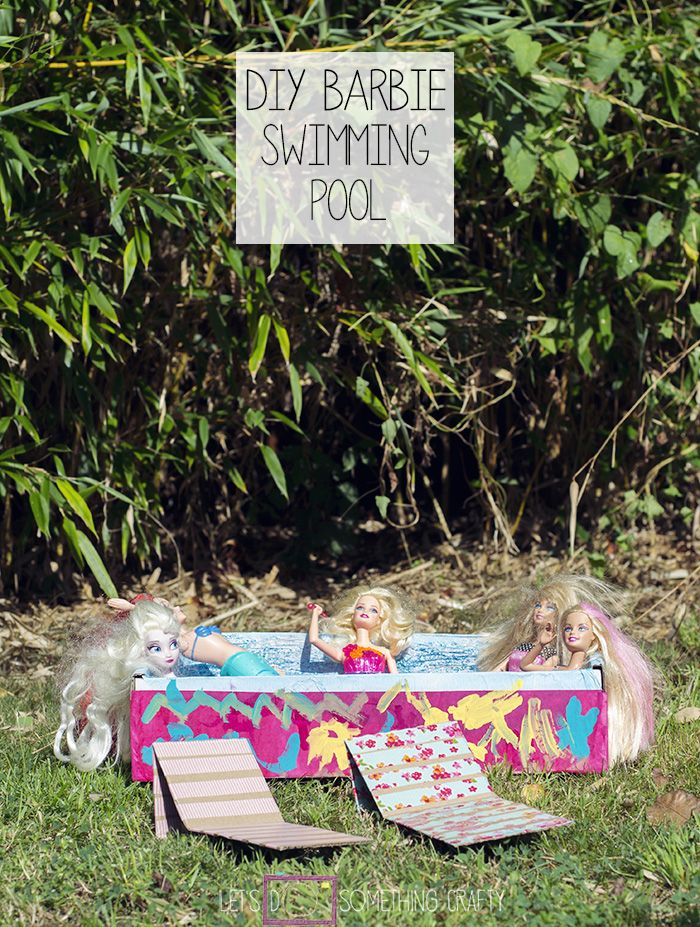 Cardboard Crafts Make A Swimming Pool For Dolls Crafts Barbie And Pools