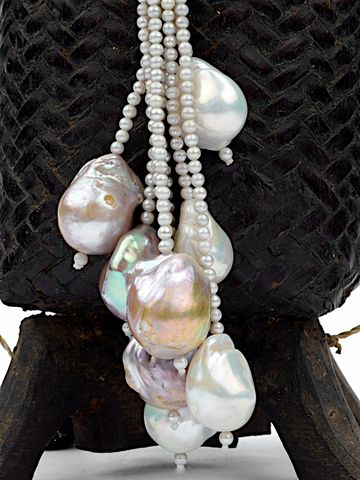 Freshwater Baroque Pearl Lariat Necklace By 88 Sandy Simonian
