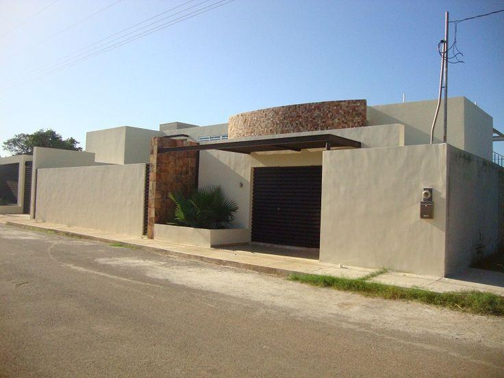Mejores 23 im genes de fachadas barda en pinterest casas for Fachada de casas modernas con porton